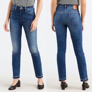 Levi's 501 Skinny High Waisted Released Hem 25